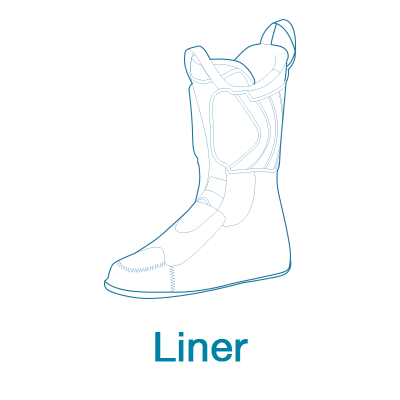scarpa ski boot liner line drawing