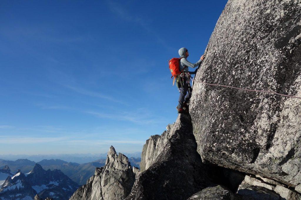 Landing on the ridge