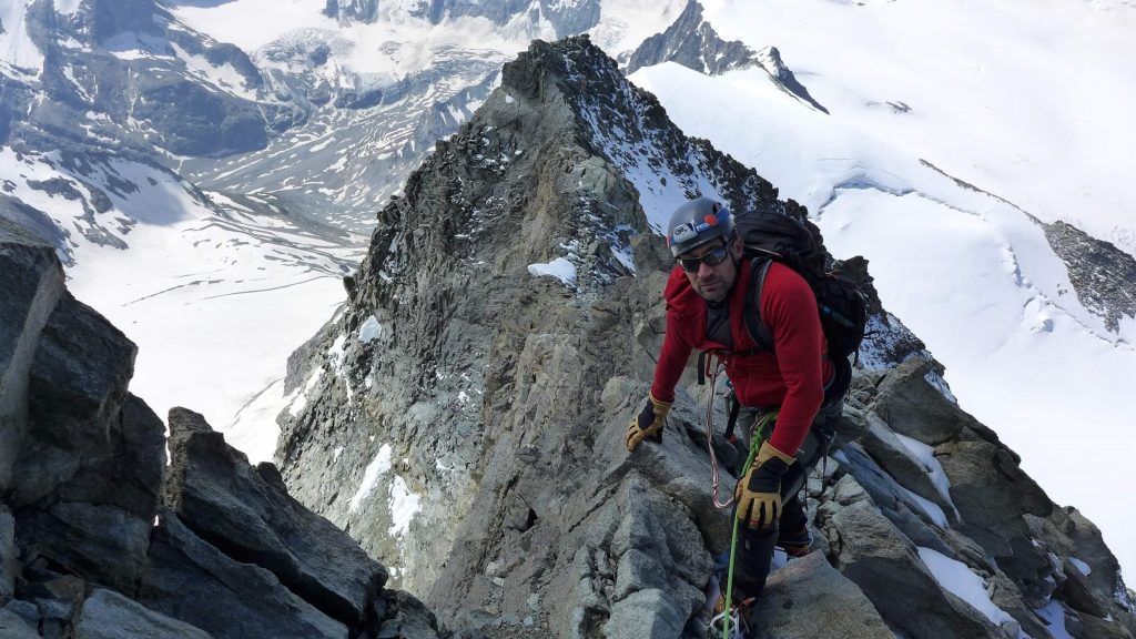 Technical scrambling up the Dent Blanche