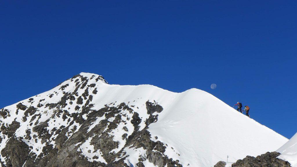 The summit ridge of the Eiger