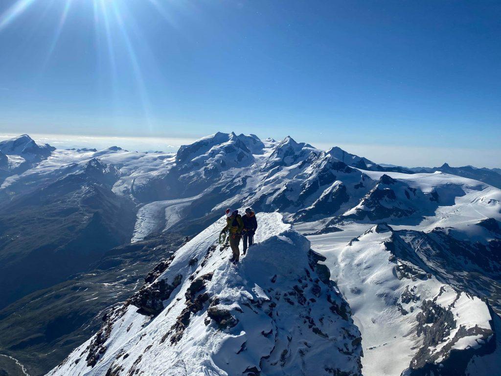 The summit ridge of the Matterhorn