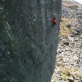 Ricky on the first ascent of The Big Skin E8 6c  - phto Craig Hiller