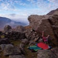 Curtain Call 8a at the sheep Pen in Wales - Ben Hopper