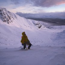 Beinn Bhan, Giants Wall morning light, photo Hamish Frost