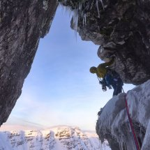 Beinn Bhan, Great Overhanging Gully, photo Hamish Frost