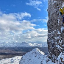 Beinn Bhan, The Godfather, photo Jamie Skelton. A big classic hard route in the stunning NW of Scotland