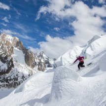 Jasmin Taylor (by Pierre Raphoz) at Les Grands Montets 1