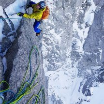 New Route in the Mont Blanc Massif