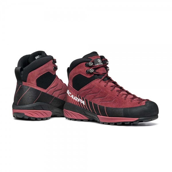 Scarpa 0027 72096-202-2 06 MES-MID-GTX-W BrR-Red Mescalito Mid GTX WMN   Brown Rose - Mineral Red
