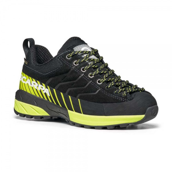 Scarpa 0027 30472-203-1 MES-LAC-KID-GTX Blk-Gre Mescalito Lace Kid GTX   Black - Acid Green